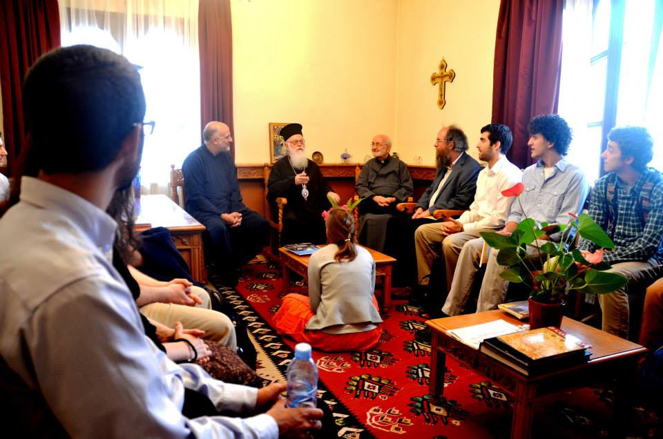 Archbishop Anastasios meeting with our Group
