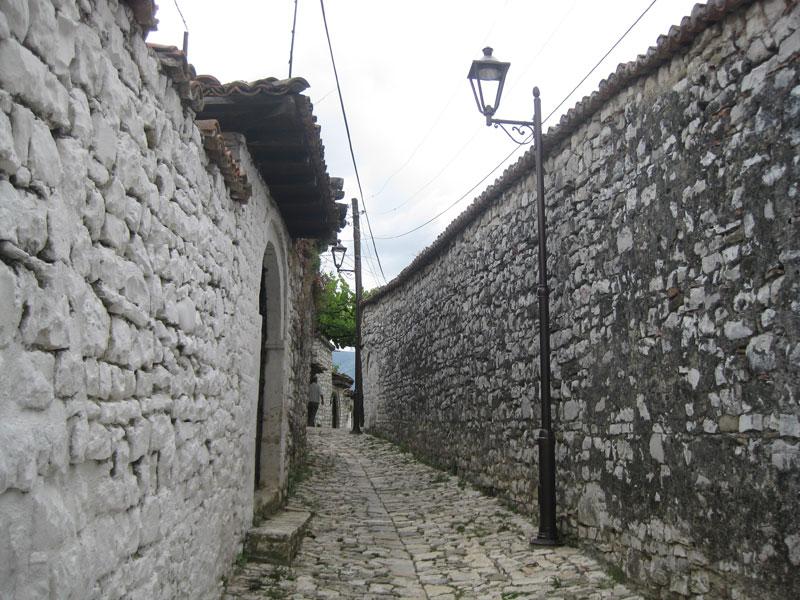 A stone road in the town of Berat